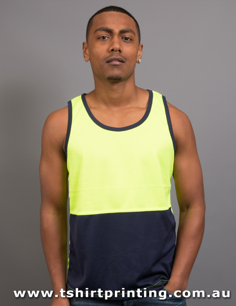 S13M Mens High Visibility Work Singlet