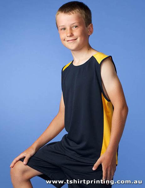 S65K Aussie Pacific Kid's Polyester Premier Singlet