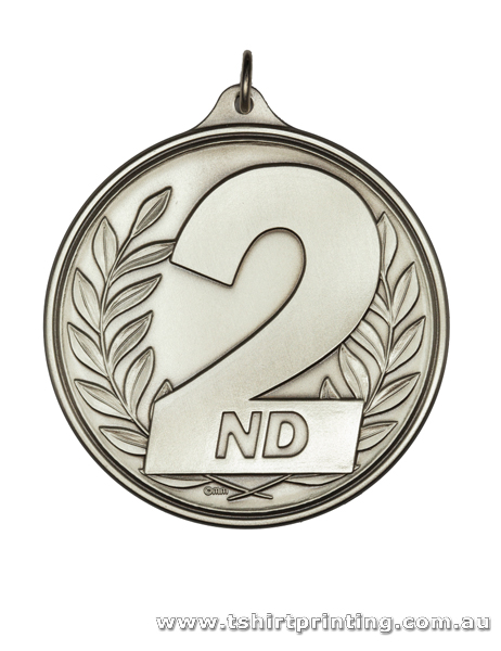 Silver 2D Iron Stamped Sports Medal