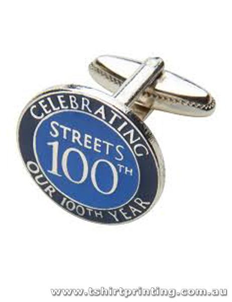Silver Centennial Cuff Links