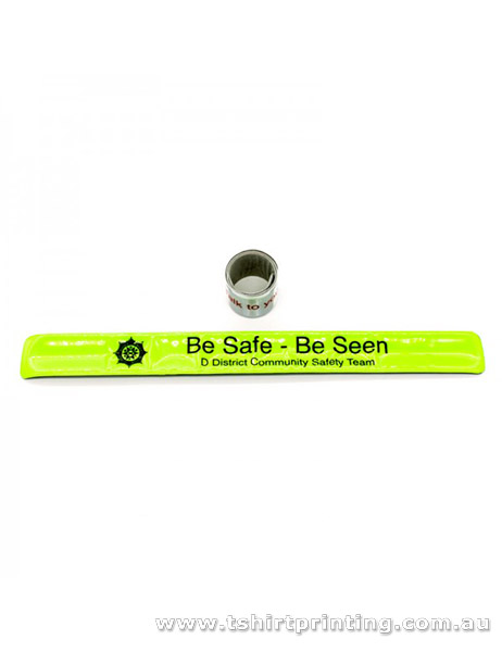 Neon Green Slap Bands-PVC