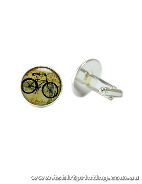 Stainless Retro Bike Design Cuff Links