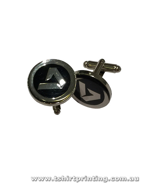Stainless Unique Black A Cuff Links