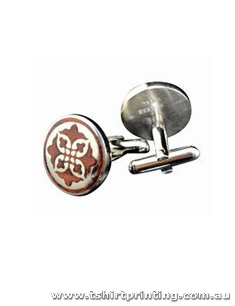 Stainless Unique Cross Design Cuff Links