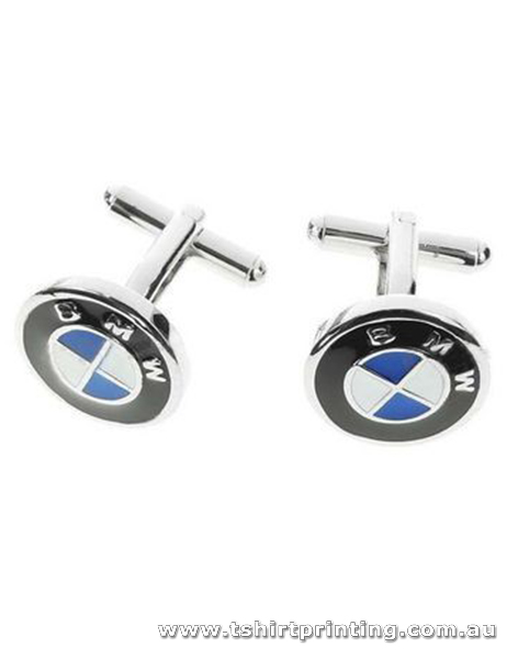 Stainless Round Infinity Cuff Links