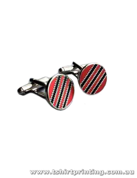 Stylish Red & Black Design Cuff Links