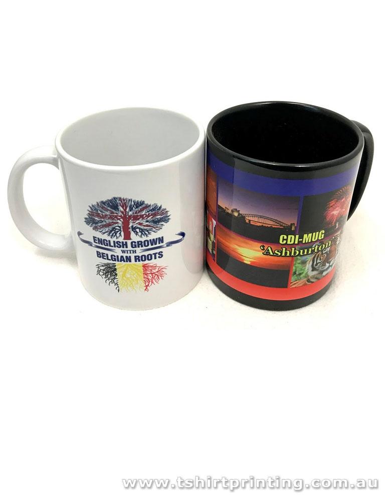 Sublimated Ceramic Coffee Mugs - 300mL