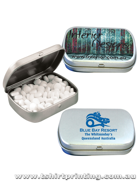 Sugar Free Breath Mints in Silver Tins