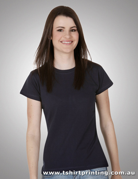T04W Ladies Slim Fitted Cotton Tshirt