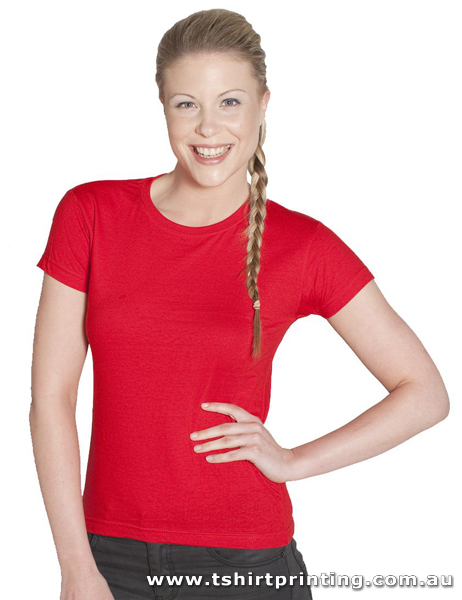 T05W Johnny Bobbin Ladies Fitted Tshirt