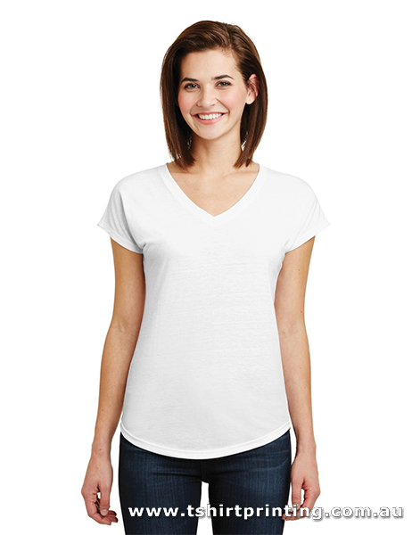 T108VW Anvil Womens TriBlend V-Neck Tee