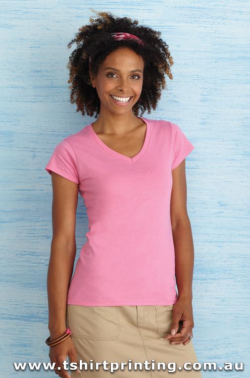 T10VW Ladies Soft Style VNeck Tshirt