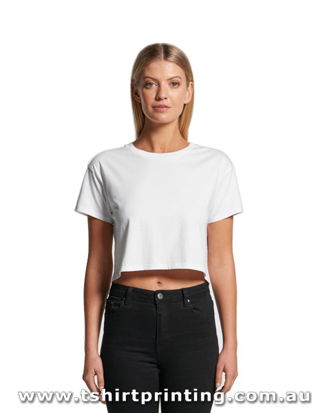 T128W ASColour Women's Crew Neck Crop Tee