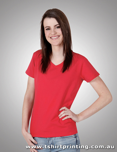 T25W Ladies Cotton Lycra (V Neck) Tshirt