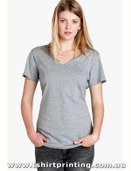 T40W Ladies Bevel V-Neck Tshirt