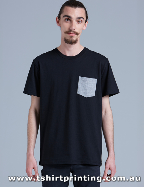 T54M ASColour Staple Pocket Tshirt