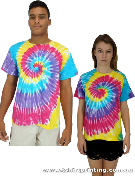 T82M Sun Drenched Tie Dye TShirt