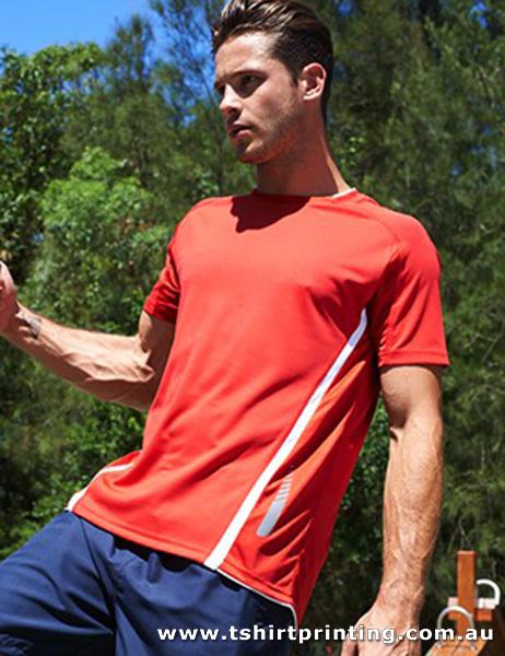 T97M Men's Reflective Contrast Tshirt