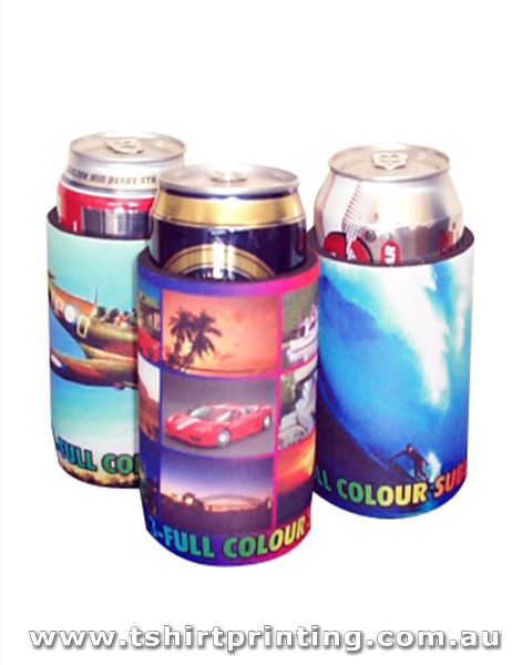 Full Colour Sublimated Beer Coolers