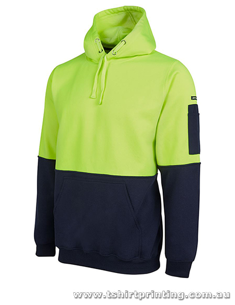 W08H Johnny Bobbin Hi Visibility Pull Over Hoodie