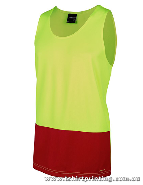 W09M Men's Hi Visibility Traditional Singlet