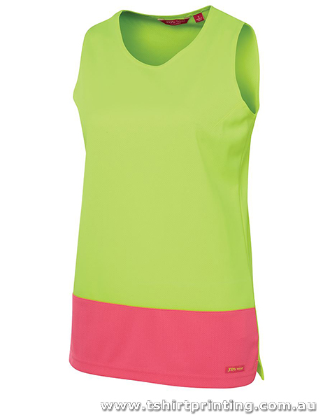 W09S Ladies Hi Visibility Traditional Singlet
