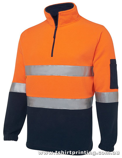 W12H Johnny Bobbin Hi Vis (D+N) 1/2 Zip Polar Fleece
