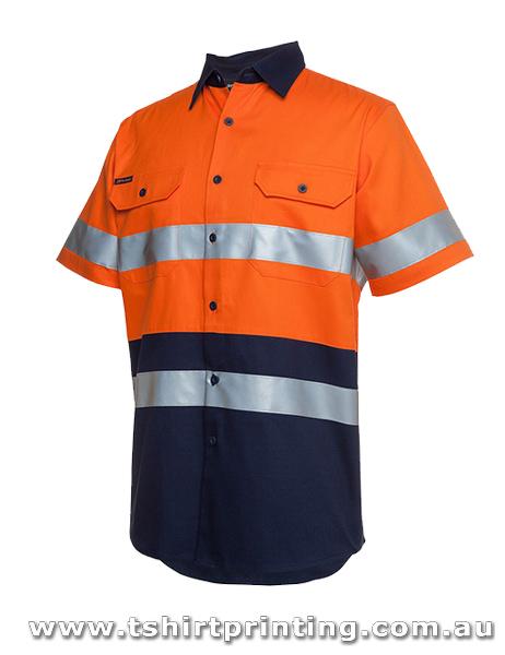 W97P Johnny Bobbin Hi Vis S/S (D+N) 190G Shirt