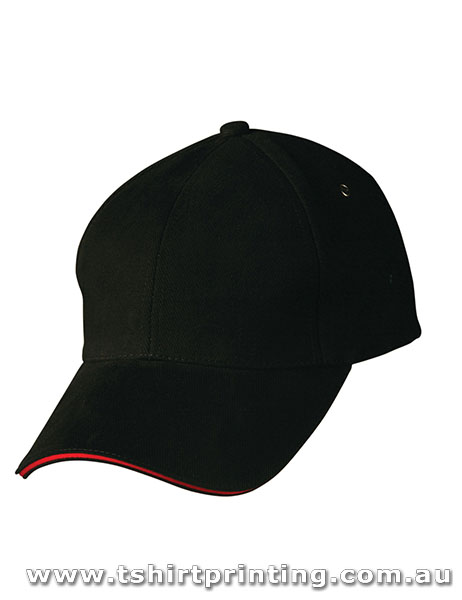 Winning Spirit 6 Panel Structured Sandwich Peak Caps