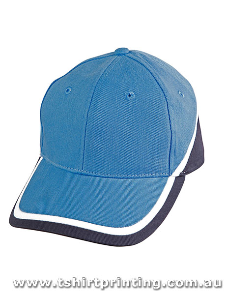 Winning Spirit 6 Panel Tri Contrast Colours Caps