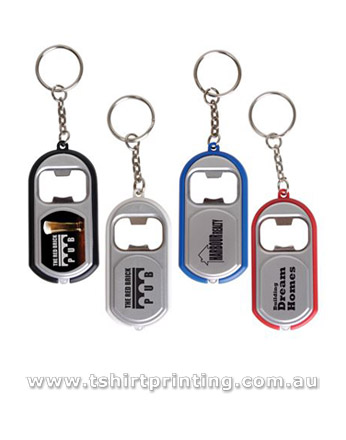 Bottle Opener Key Ring with Light