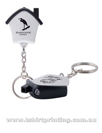 Mini House Flashlight KeyRing